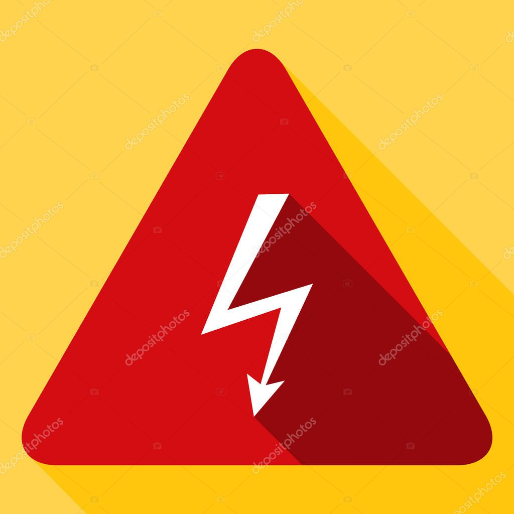 Hohe Spannung Risiko Zeichen — Stockvektor © Yuriy_Vlasenko #130041376