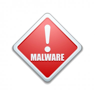Malware Attention Hazard sign