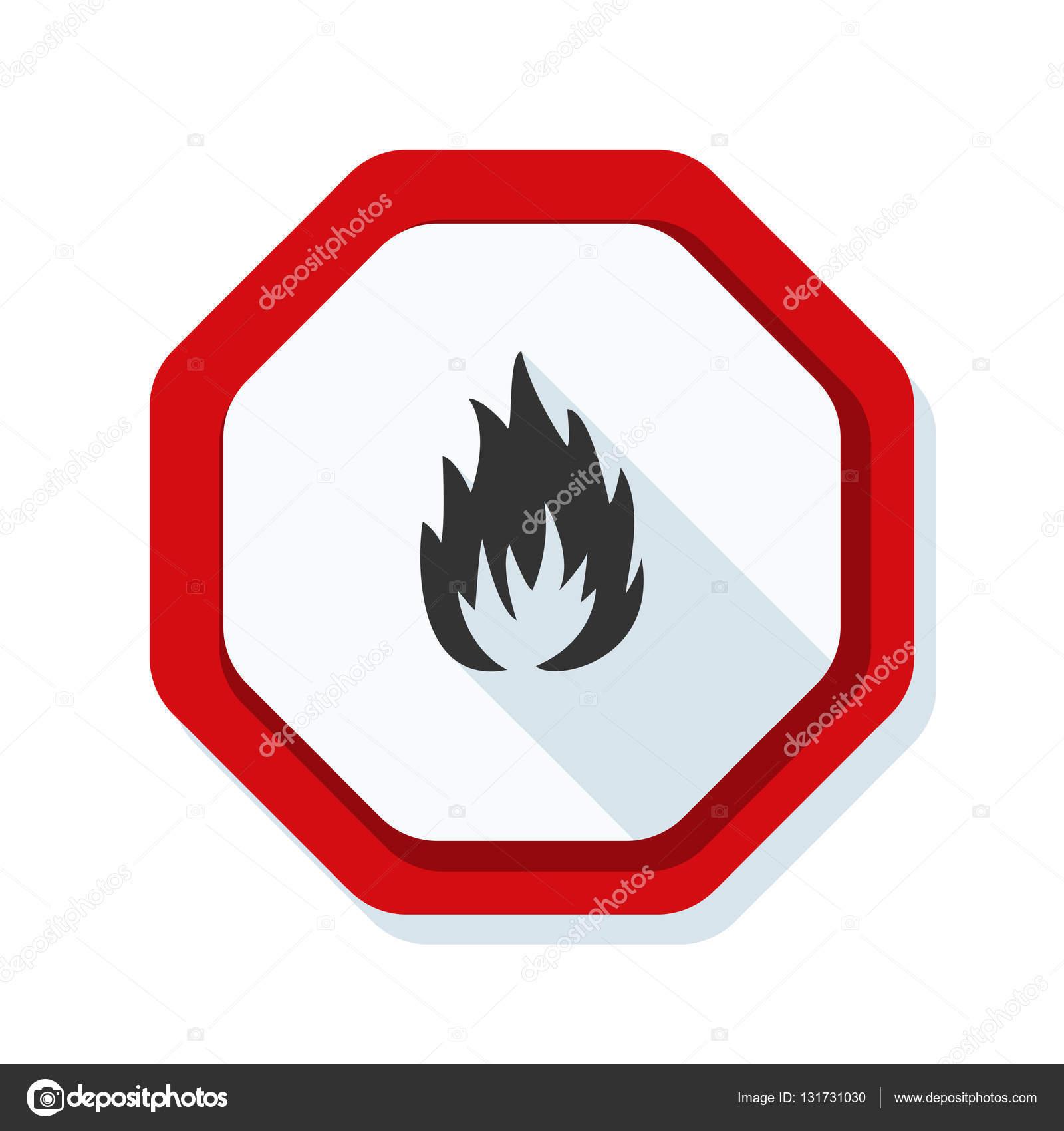 Flammable danger sign stock vector yuriyvlasenko 131731030 flammable danger sign stock vector buycottarizona