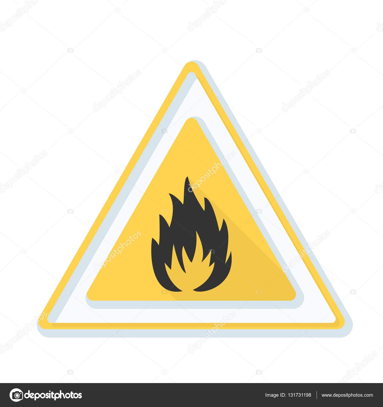 Flammable danger sign stock vector yuriyvlasenko 131731198 flammable danger sign stock vector buycottarizona