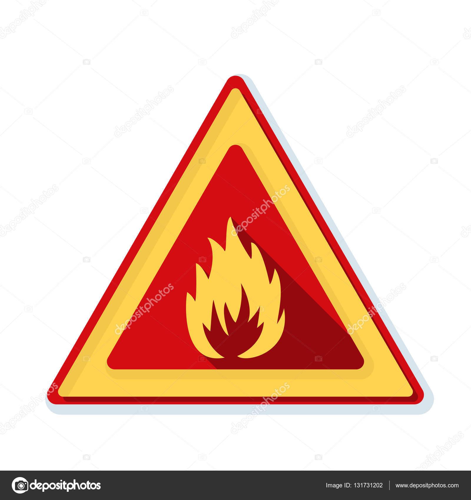 Flammable danger sign stock vector yuriyvlasenko 131731202 flammable danger sign stock vector buycottarizona