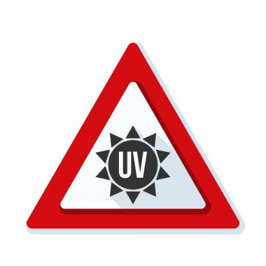 Ultraviolet hazard sign