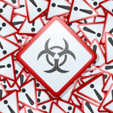 Biohazard zone sign, vector illustration stock vector