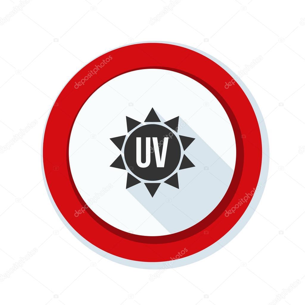Ultraviolet hazard sign