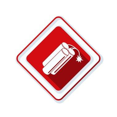 dynamite danger sign