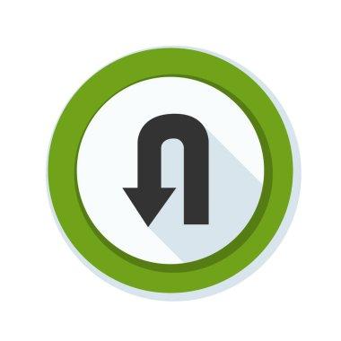 u-turn roadsign icon
