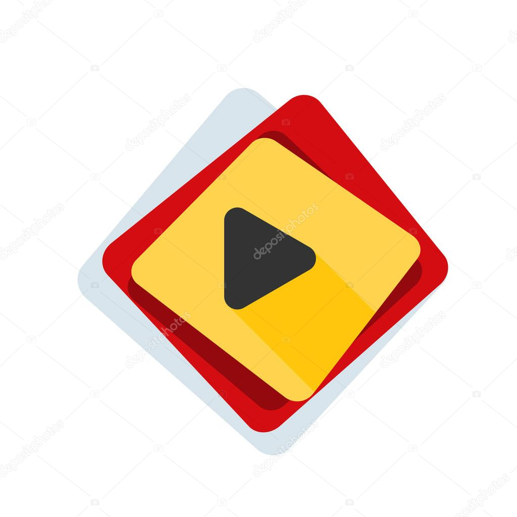 Video play icon, vector illustration stock vector