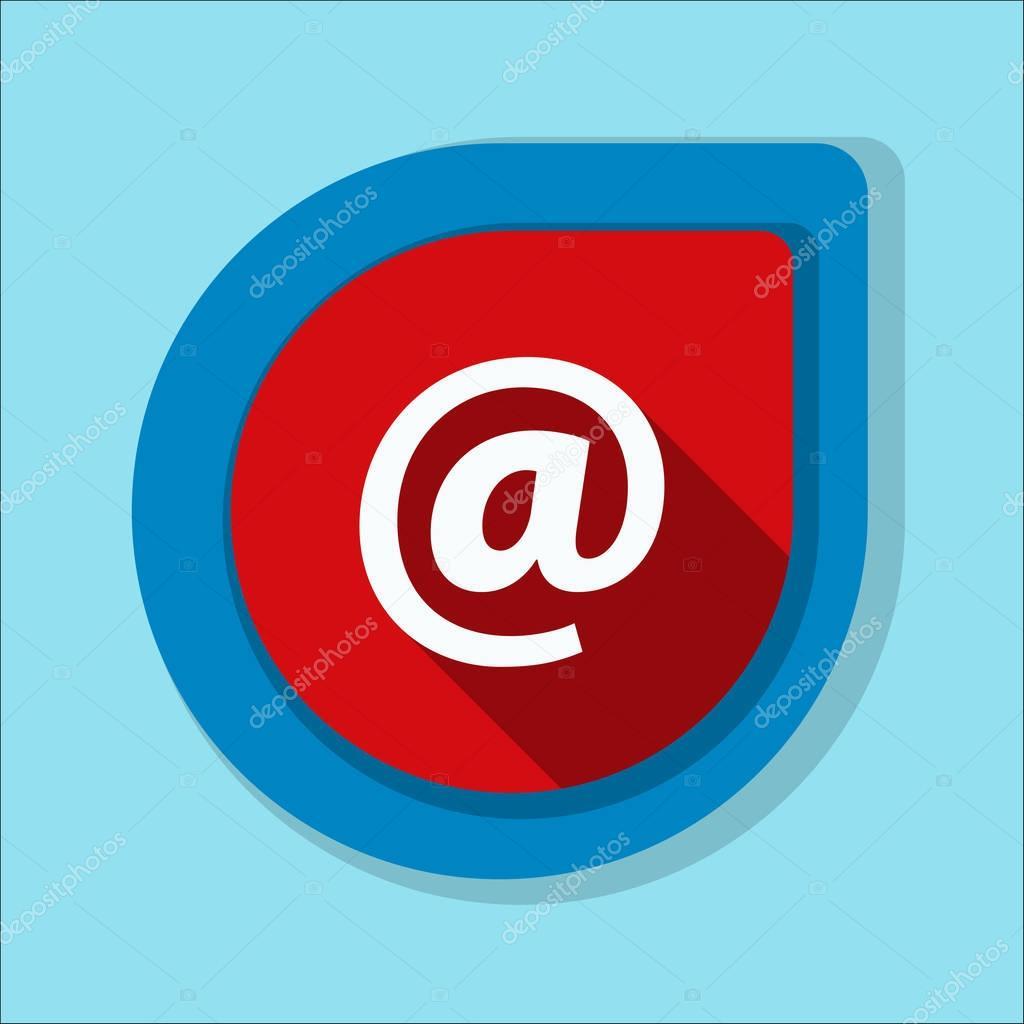 e-mail sign icon