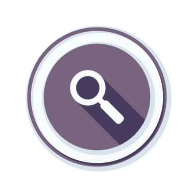 Magnifying glass icon, vector illustration stock vector