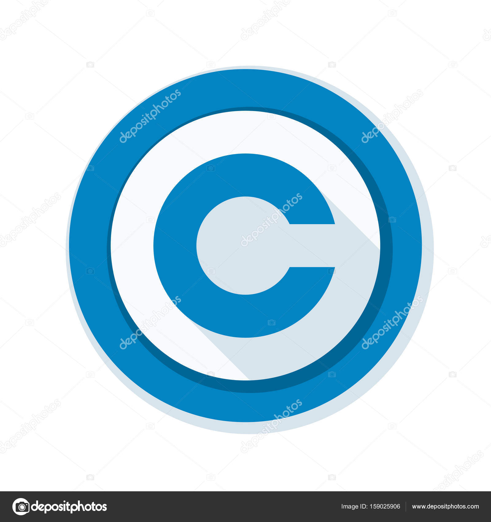 Icono de signo de derechos de autor — Archivo Imágenes Vectoriales ...