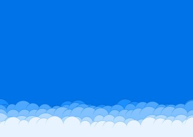 abstract colorful clouds sky generative art background illustration