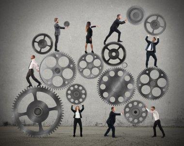 Teamwork of businesspeople work