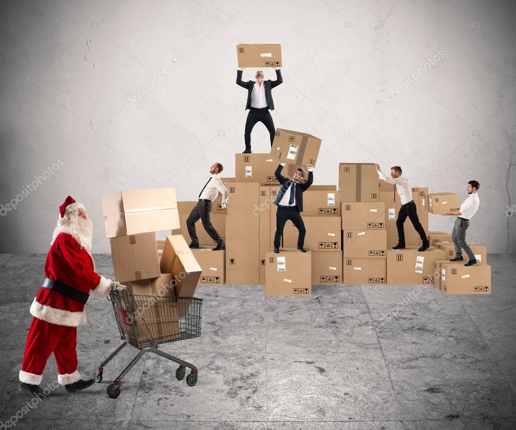 Zusammenarbeit für Weihnachtsgeschenke — Stockfoto © alphaspirit ...