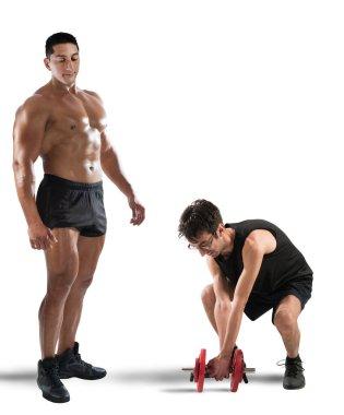 Instructor teases  skinny boy