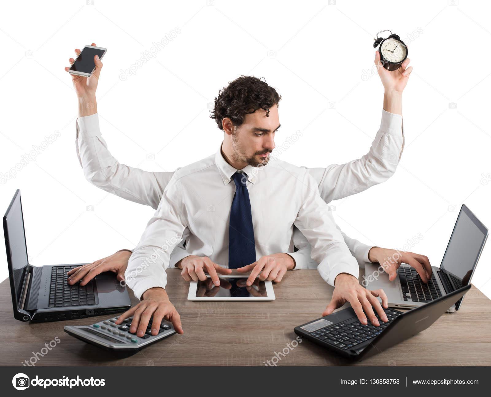 Resultado de imagem para foto de pessoa com muitas tarefas