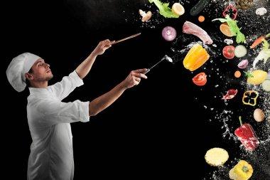 Chef creates a musical harmony