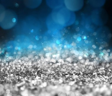 Silver sparkly crystal background