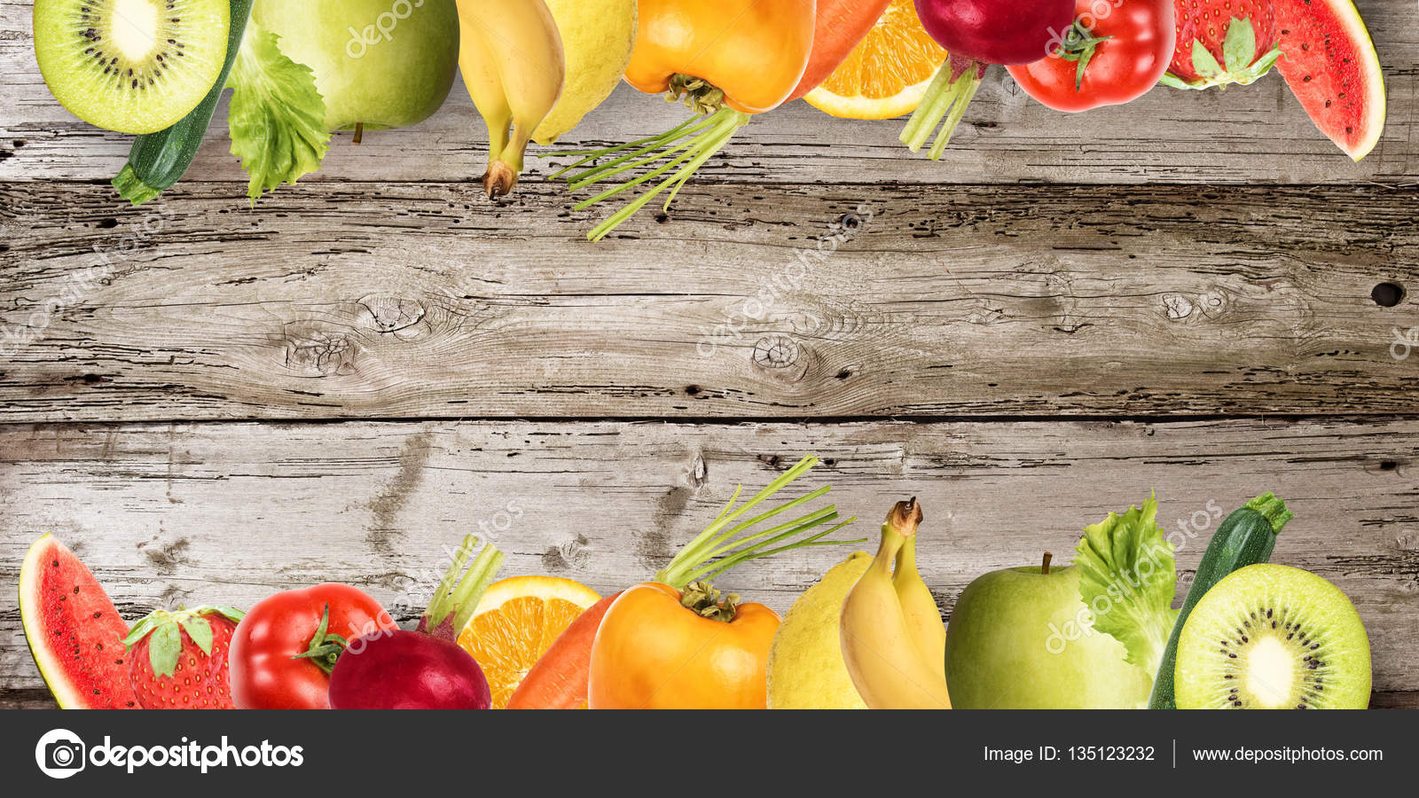 Colourful Fruits And Vegetables Banner Stock Photo C Alphaspirit 135123232