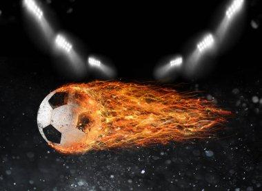 soccer fireball leaves trails