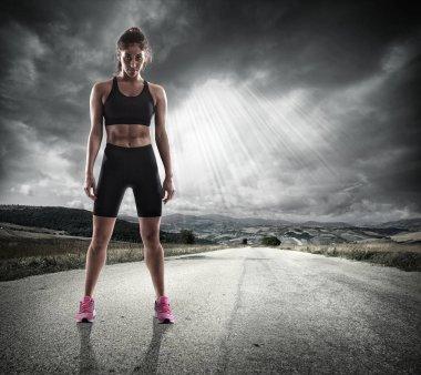 Athletic woman runner