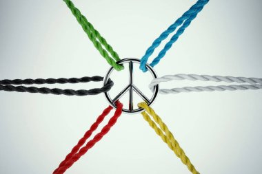 Ropes tied to the symbol of peace