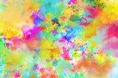 Fotografie explosion of shiny colored liquid colors