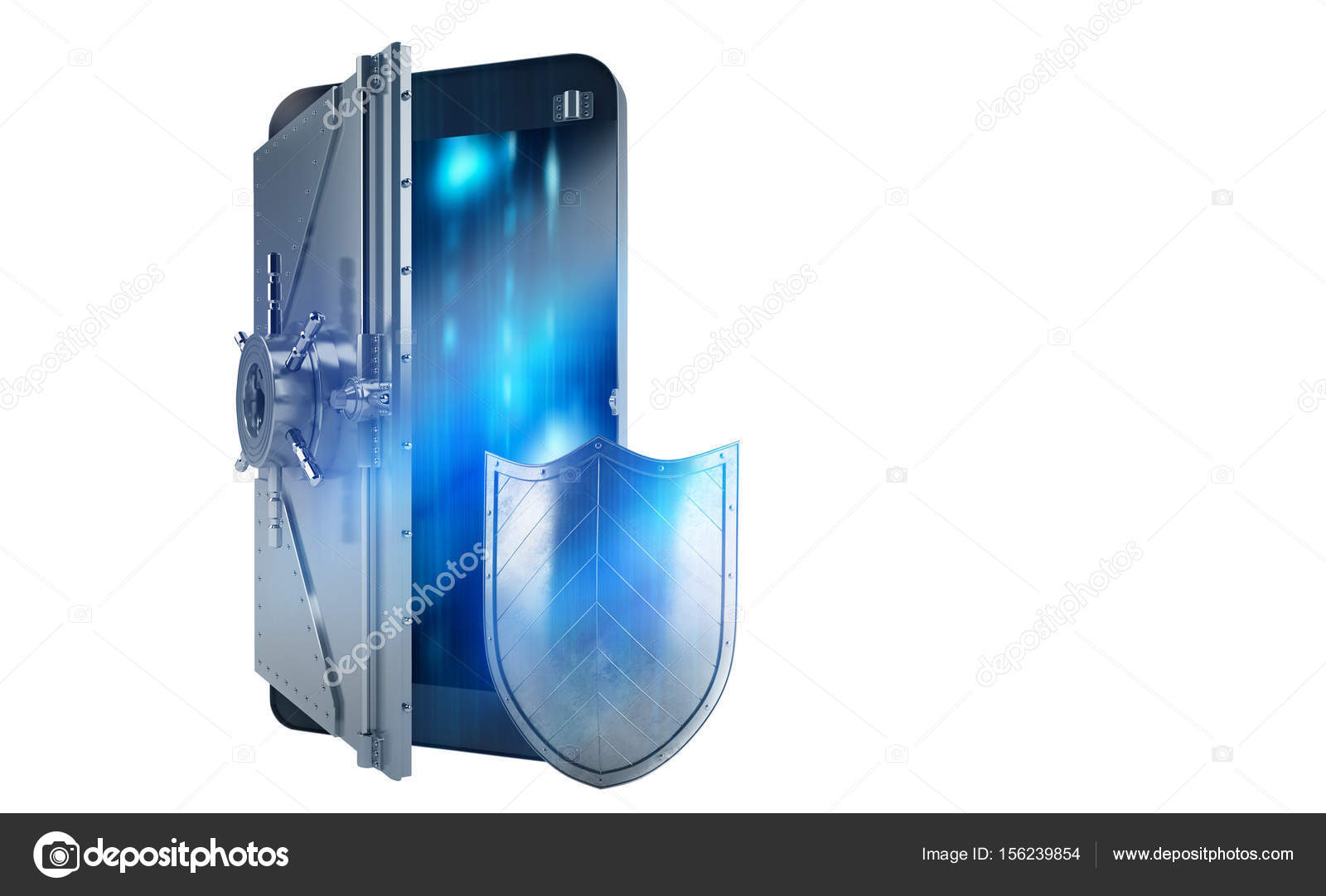 Safe cellphone from hacker attack — Stock Photo