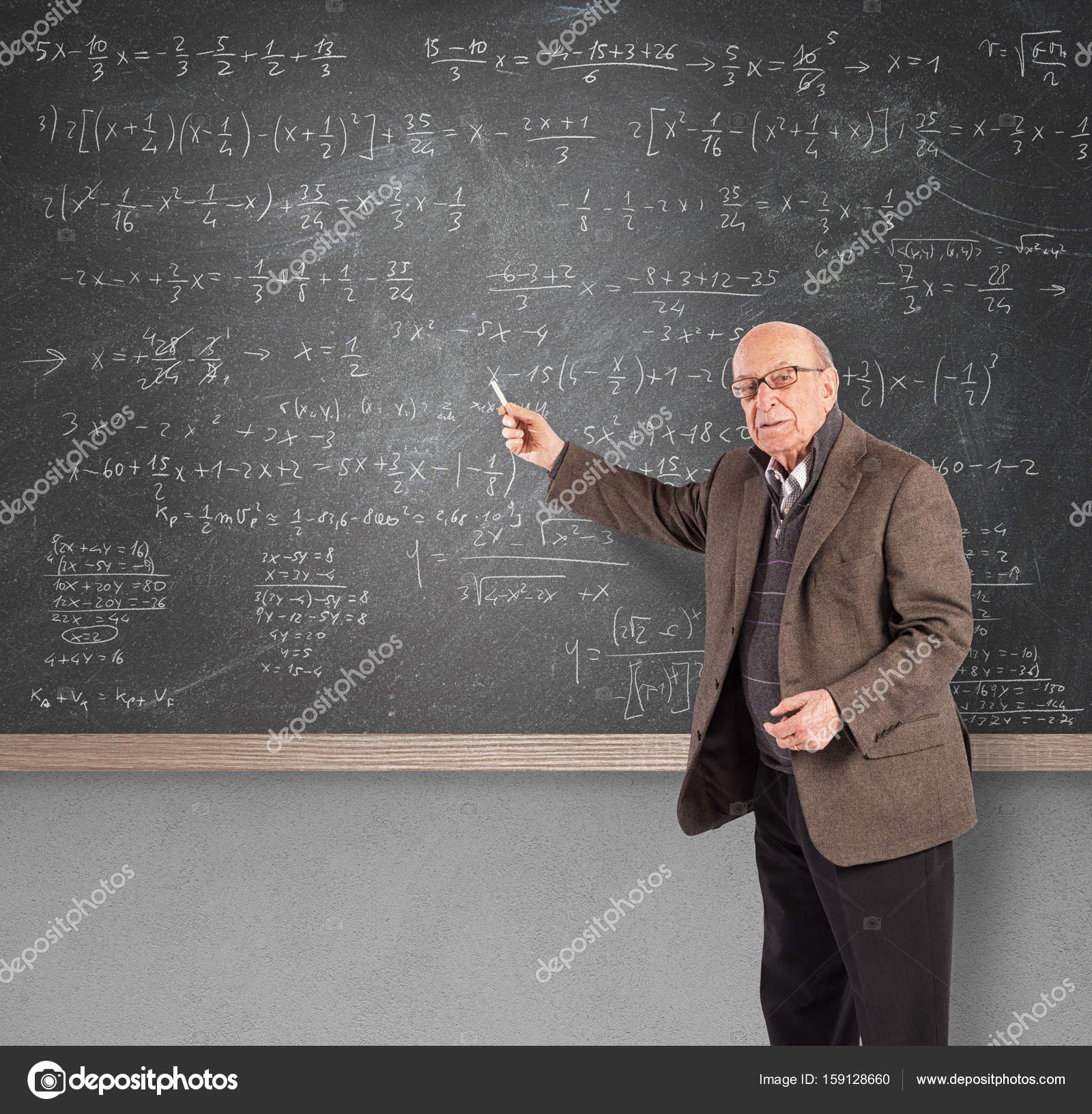 Elderly math teacher — Stock Photo © alphaspirit #159128660