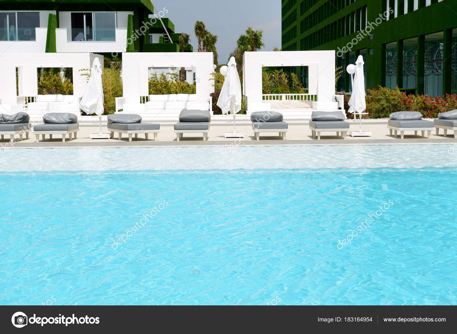 The Swimming Pool At Modern Luxury Hotel Antalya Turkey Stock