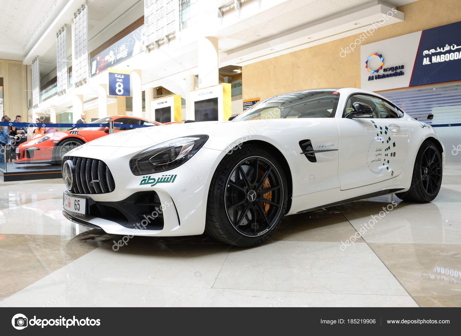 DUBAI, UAE - NOVEMBER 18: The Mercedes Benz GT R coupe of