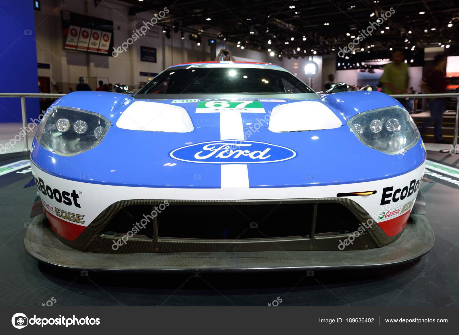 Dubai Uae November  The Ford Gt Race Car Is On Dubai Motor