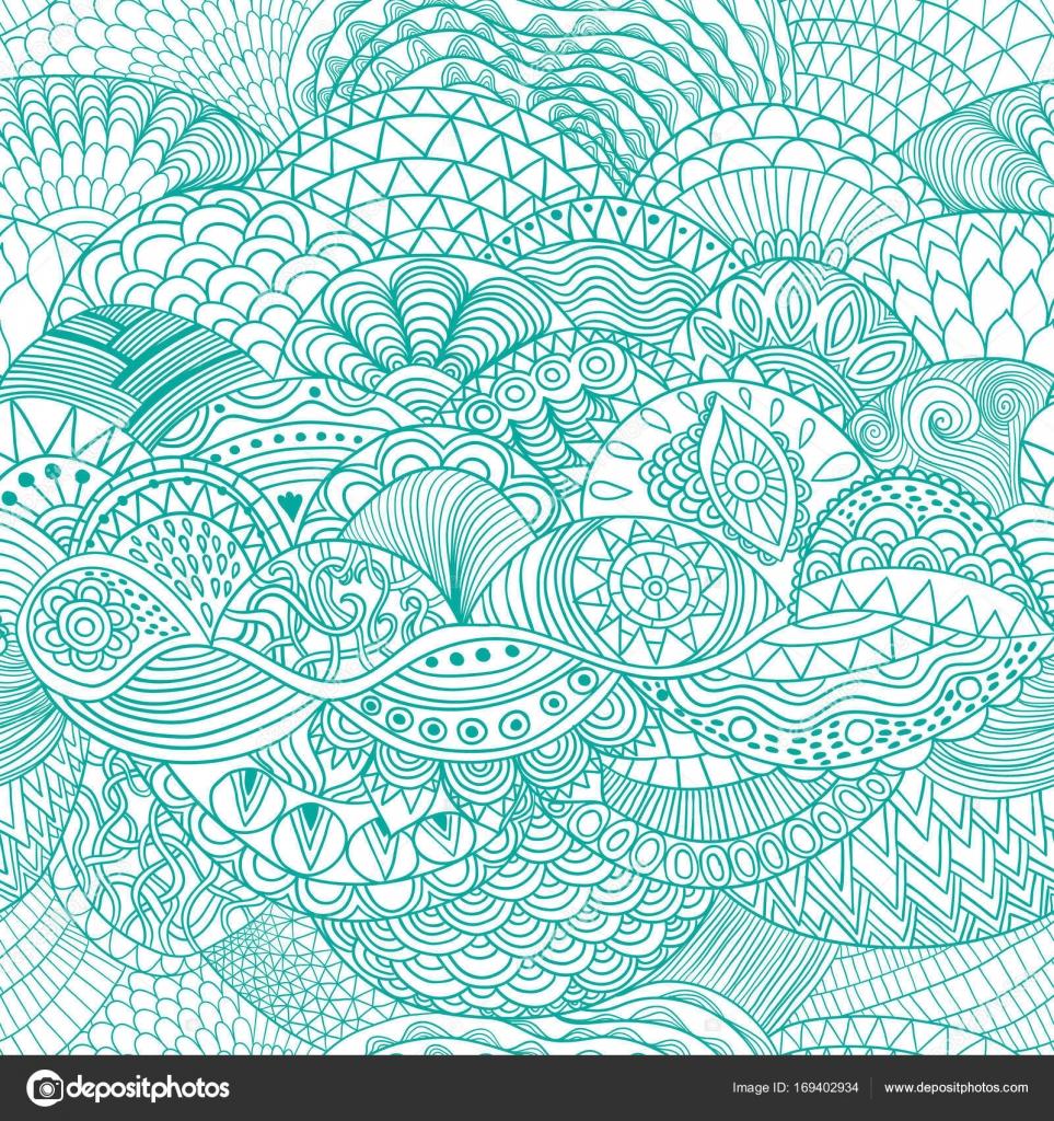 Vector abstracto de fondo con adornos coloridos. Mano dibuja la ...