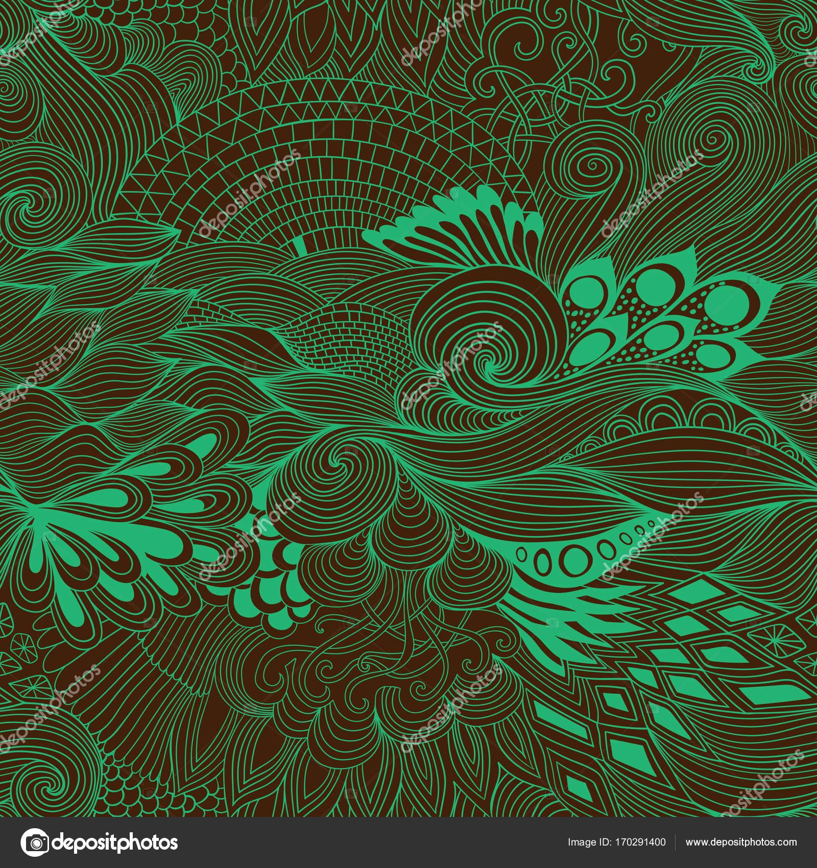 Nahtlose Muster Abstrakten Hintergrund Mit Bunten Ornament Hand Zu