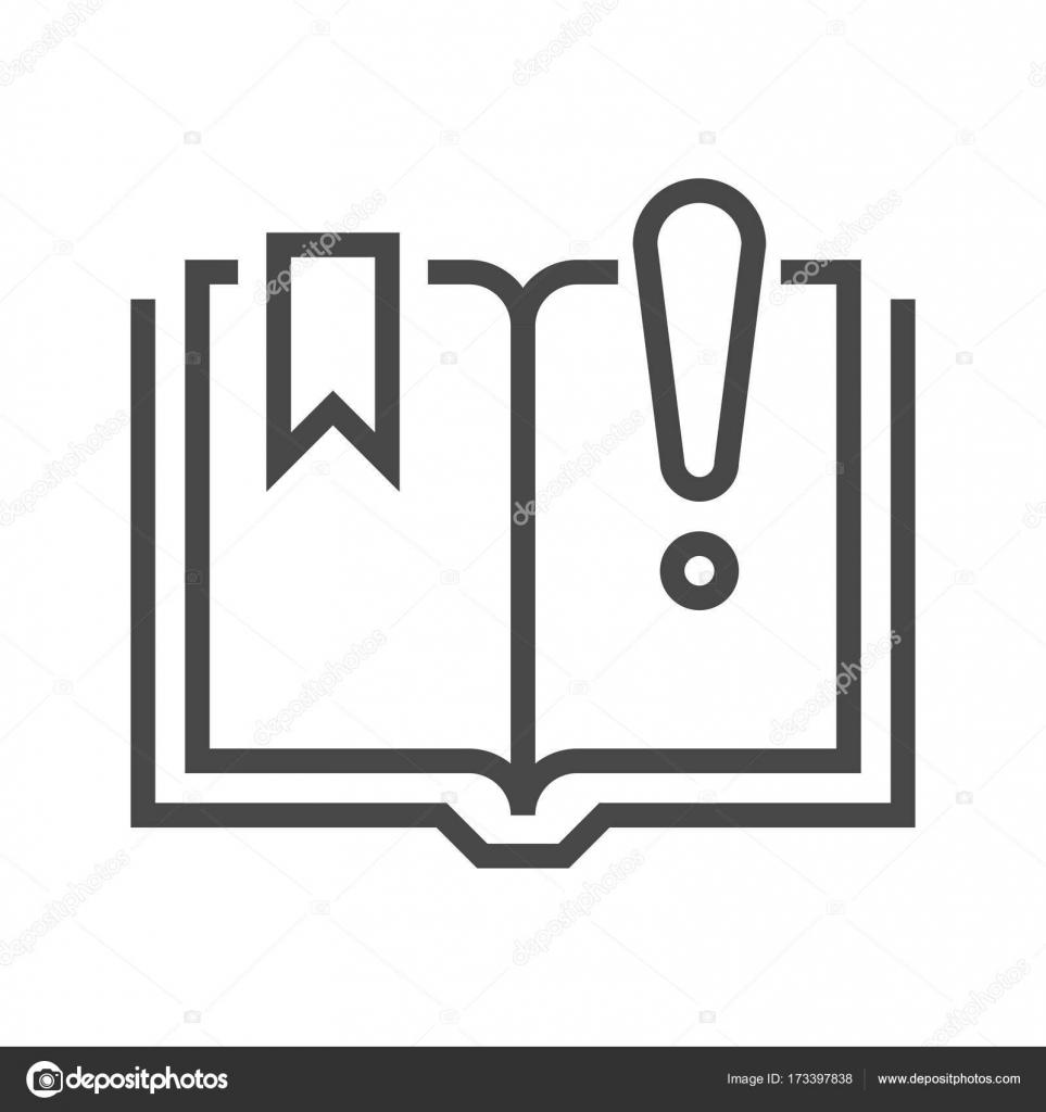 Kitap ünlem Işareti Ile Stok Vektör Leshkasmok 173397838