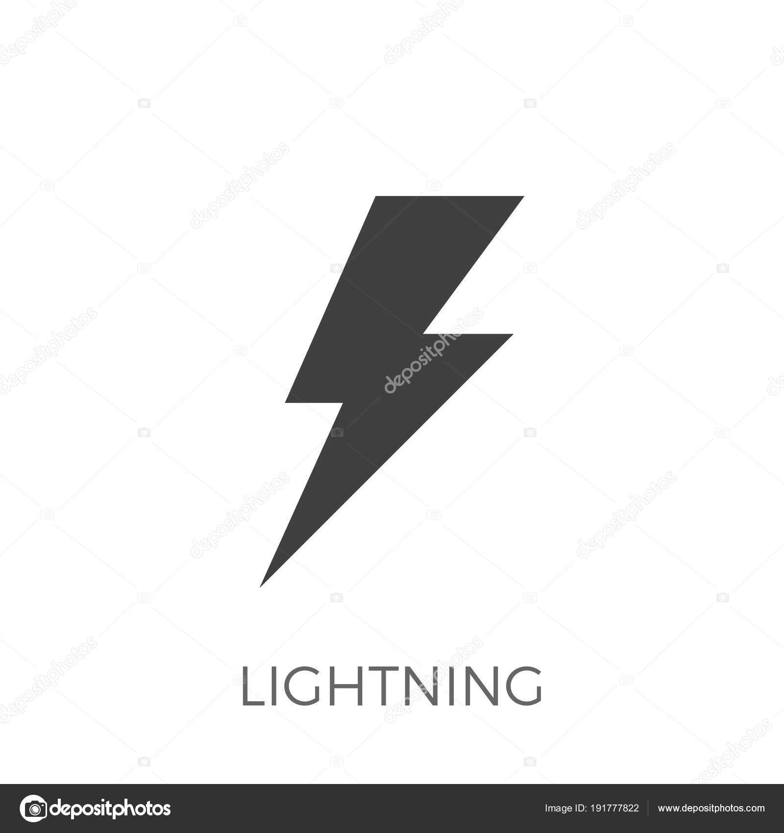 Blitz-Vektor-Symbol — Stockvektor © leshkasmok #191777822