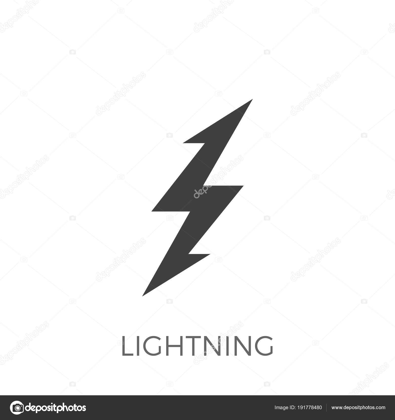 Blitz-Vektor-Symbol — Stockvektor © leshkasmok #191778480