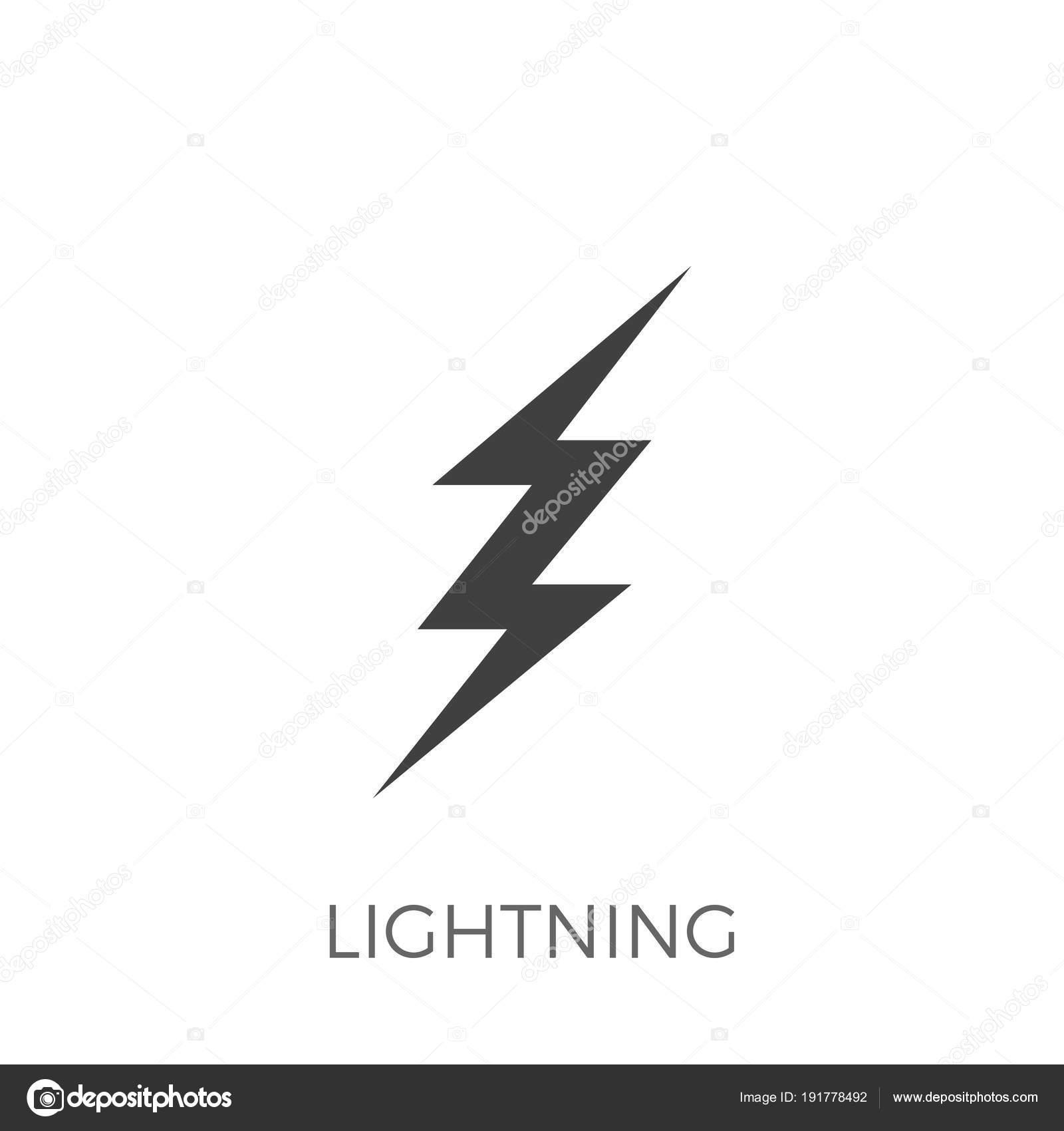Blitz-Vektor-Symbol — Stockvektor © leshkasmok #191778492