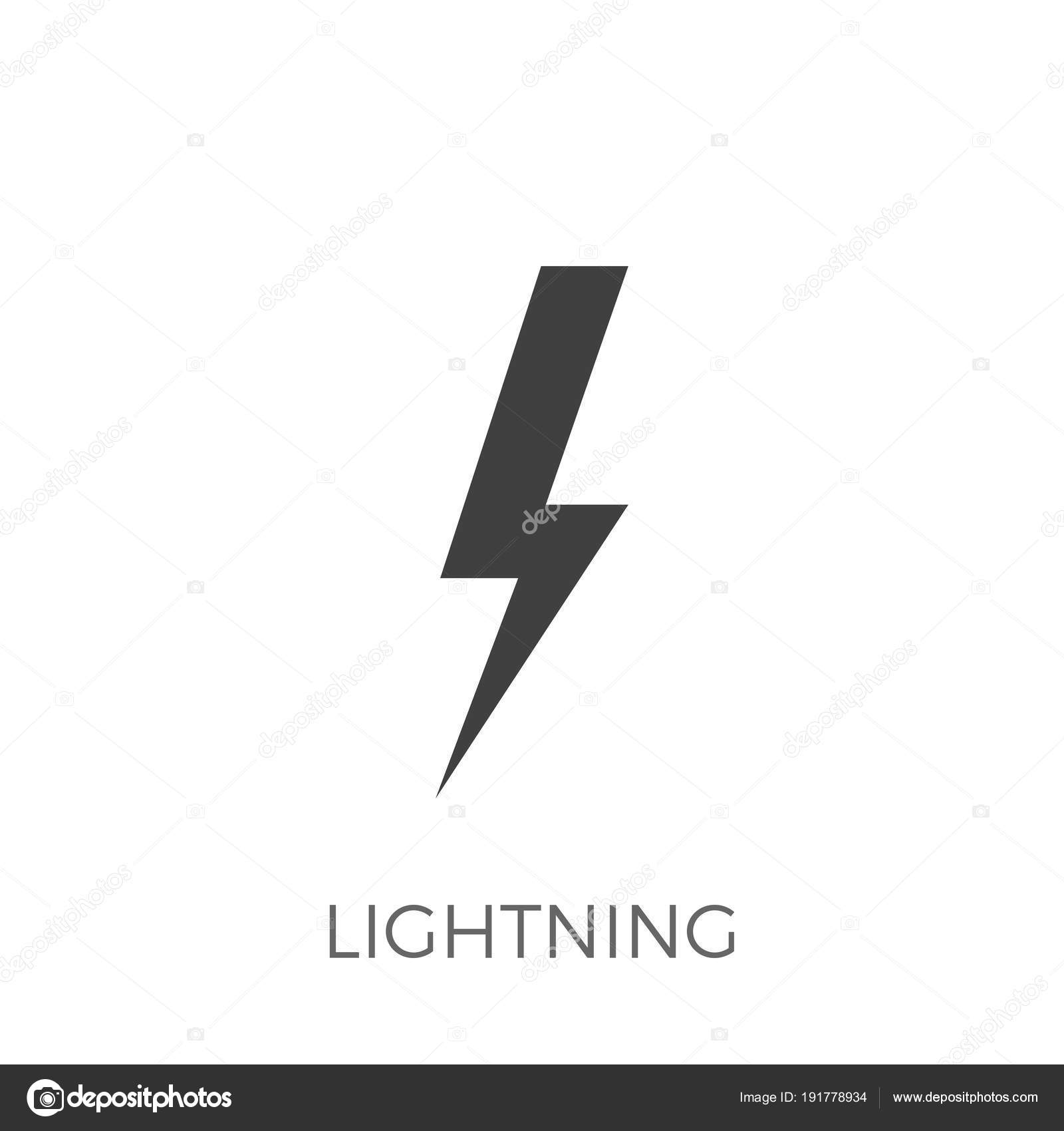 Blitz-Vektor-Symbol — Stockvektor © leshkasmok #191778934