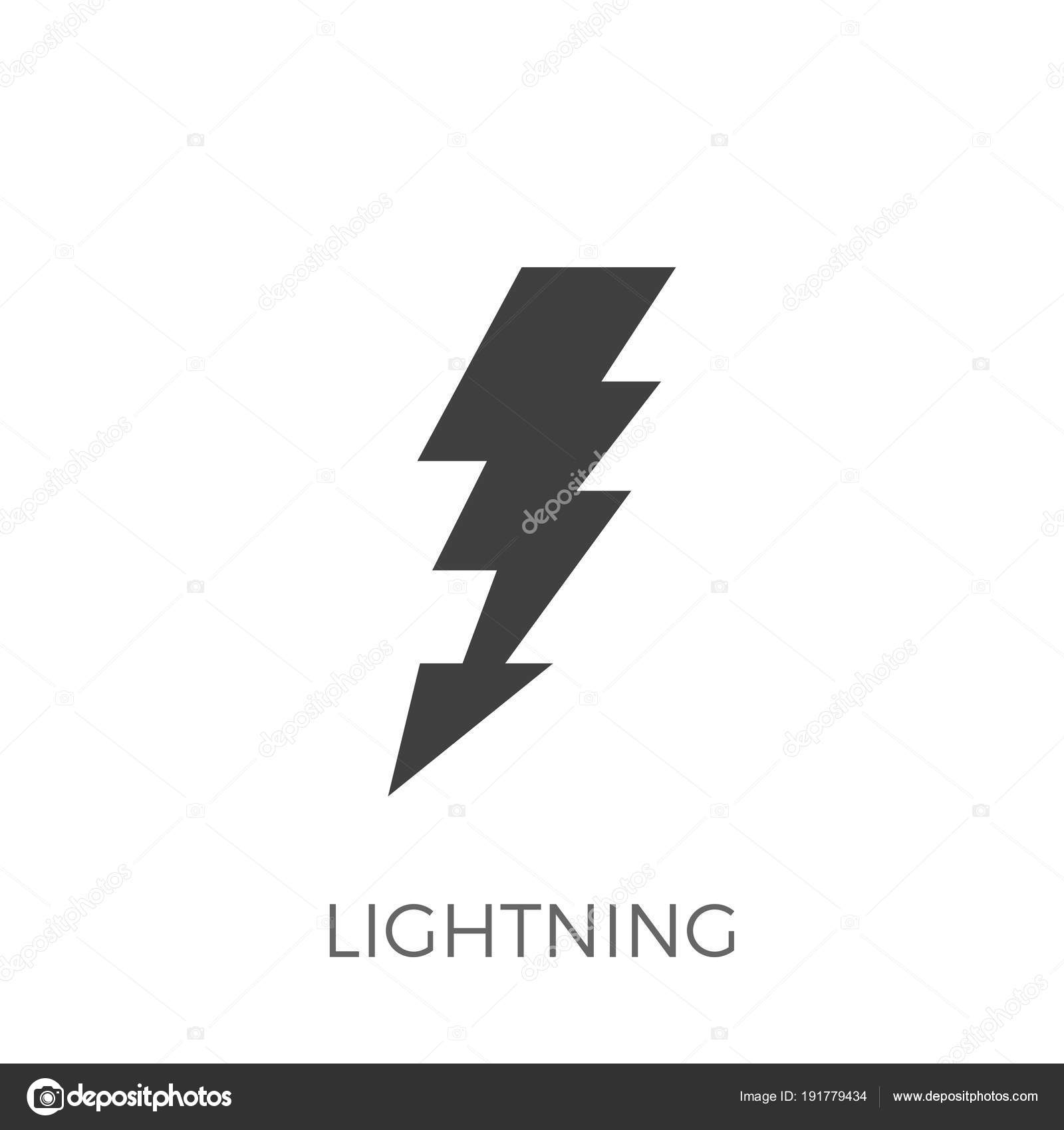 Blitz-Vektor-Symbol — Stockvektor © leshkasmok #191779434