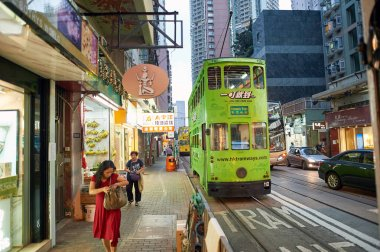 Double-decker tramway