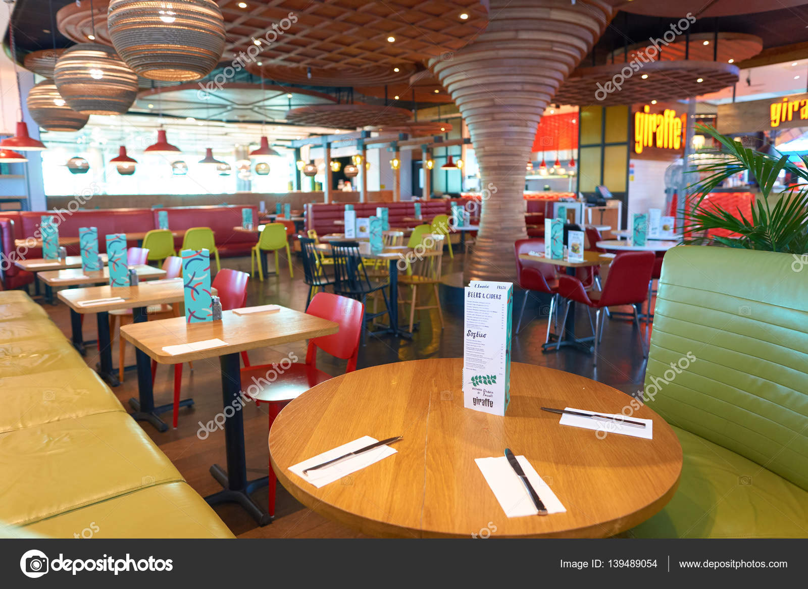 giraffe restaurant interior stock editorial photo teamtime