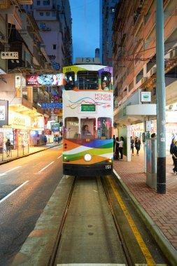 Double decker train in Hong Kong