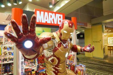 Iron Man figure on display