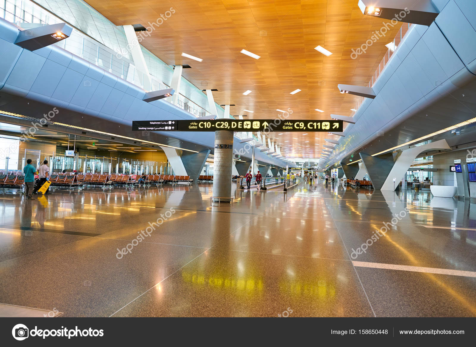 Aeroporto Hamad : Aeroporto internazionale di hamad — foto editoriale stock