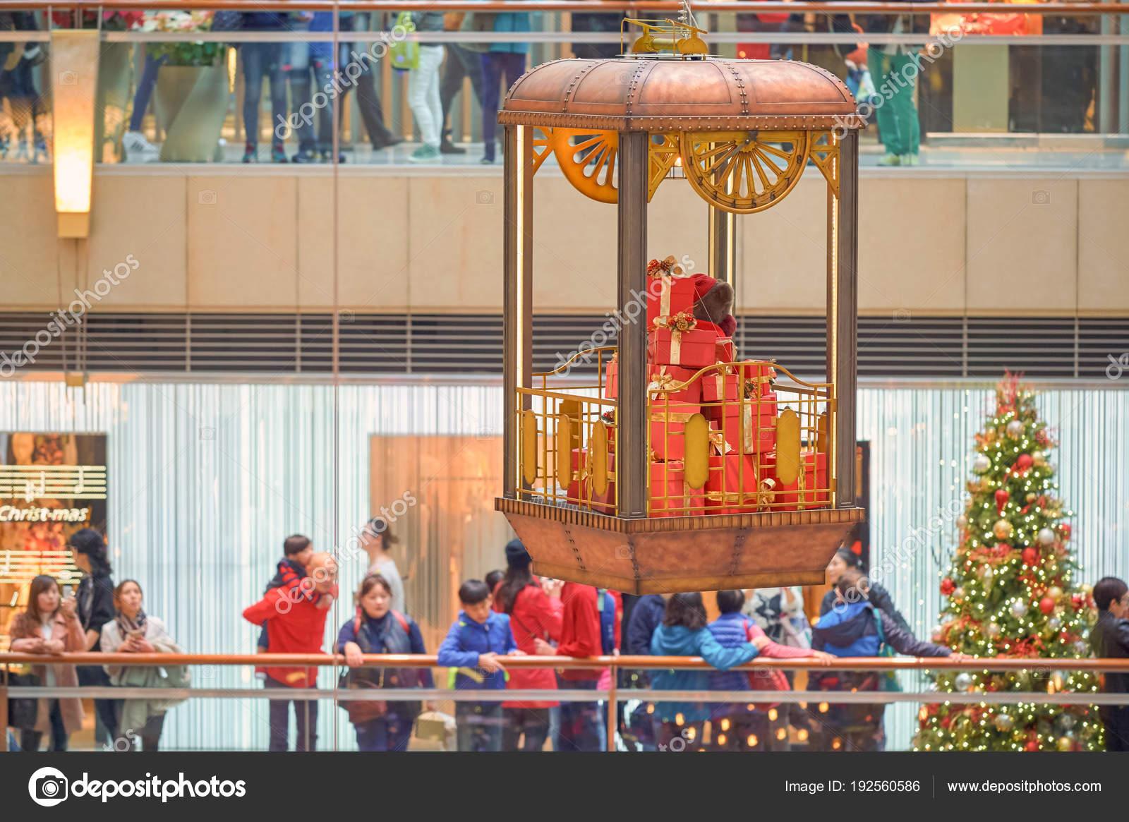 China Hong Kong December 2015 Christmas Decorations Landmark Shopping Mall — Stock Photo