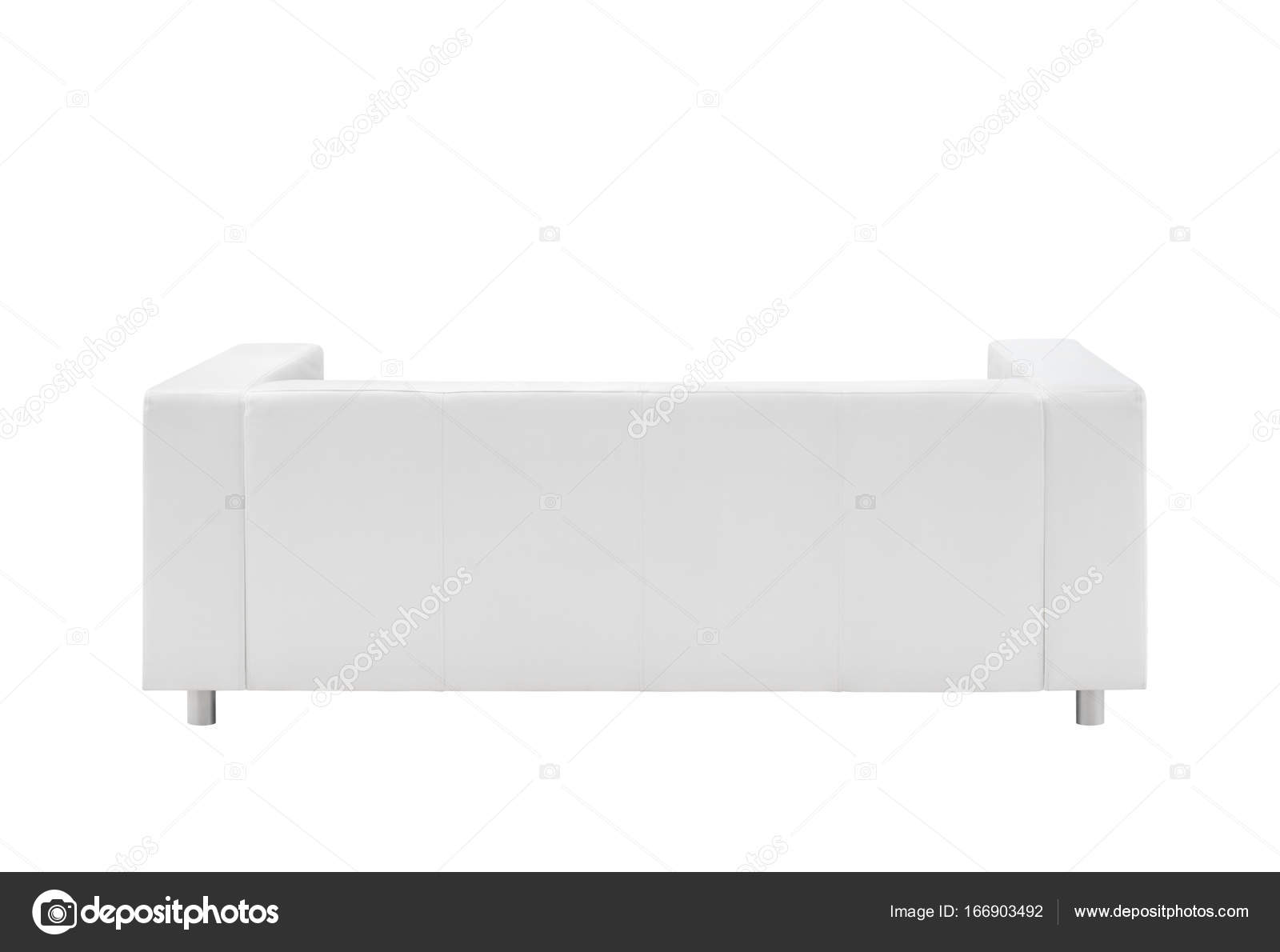Pleasing Sofa Isolated On White Background View From The Back Ocoug Best Dining Table And Chair Ideas Images Ocougorg