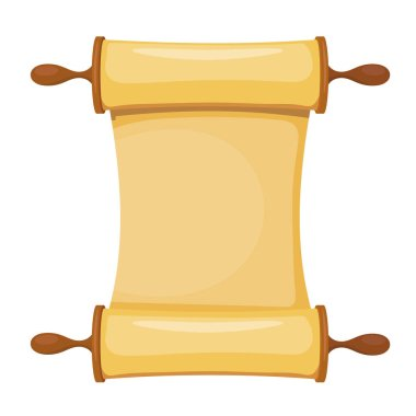Vector illustration of the Torah on a white background. Isolated