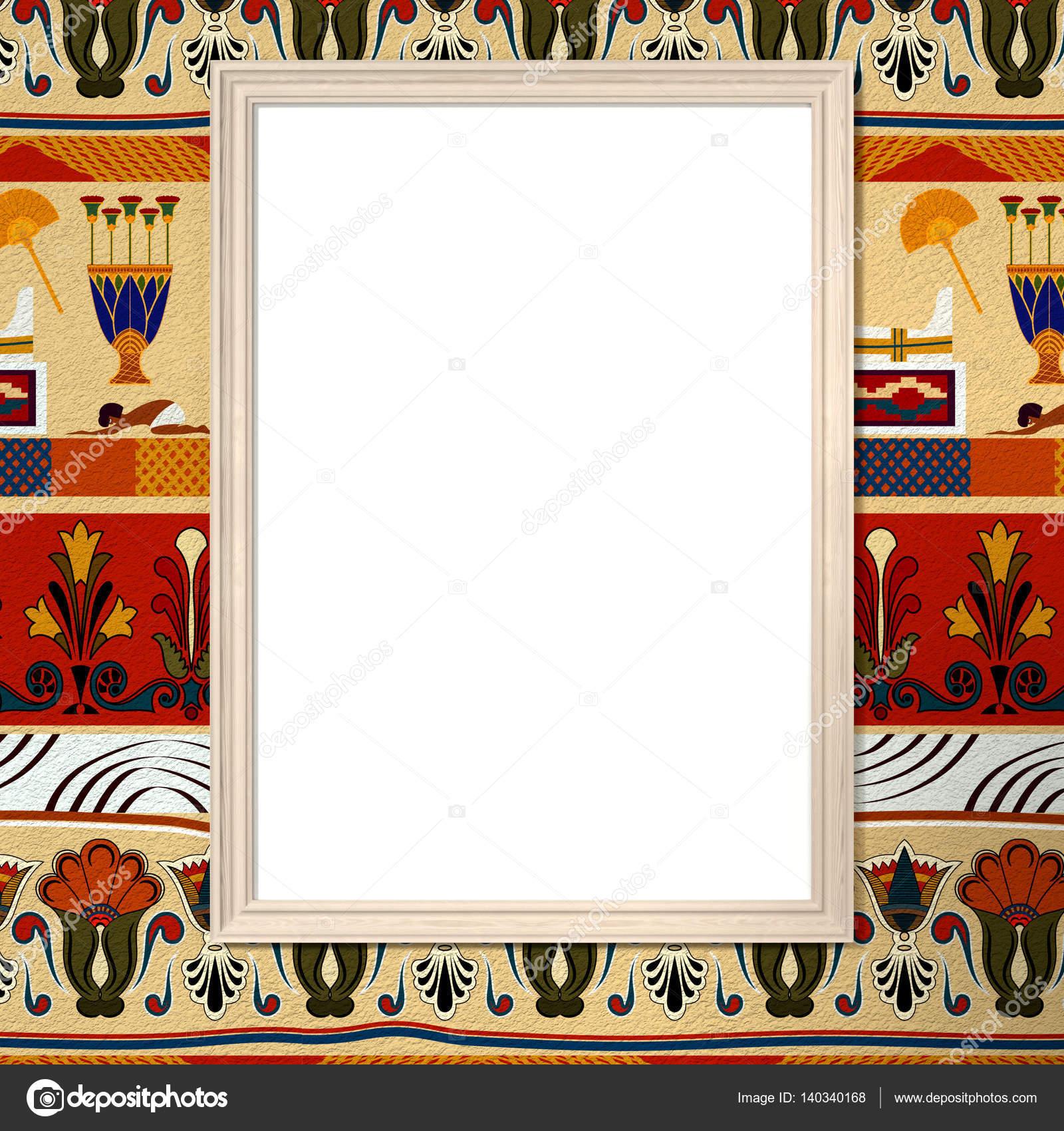 Heller Rahmen mit Leinwand auf einem hellen Hintergrund mit dem E ...
