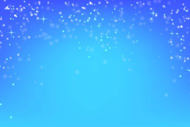 Abstract blue background with glowing particles. Vector backgrou