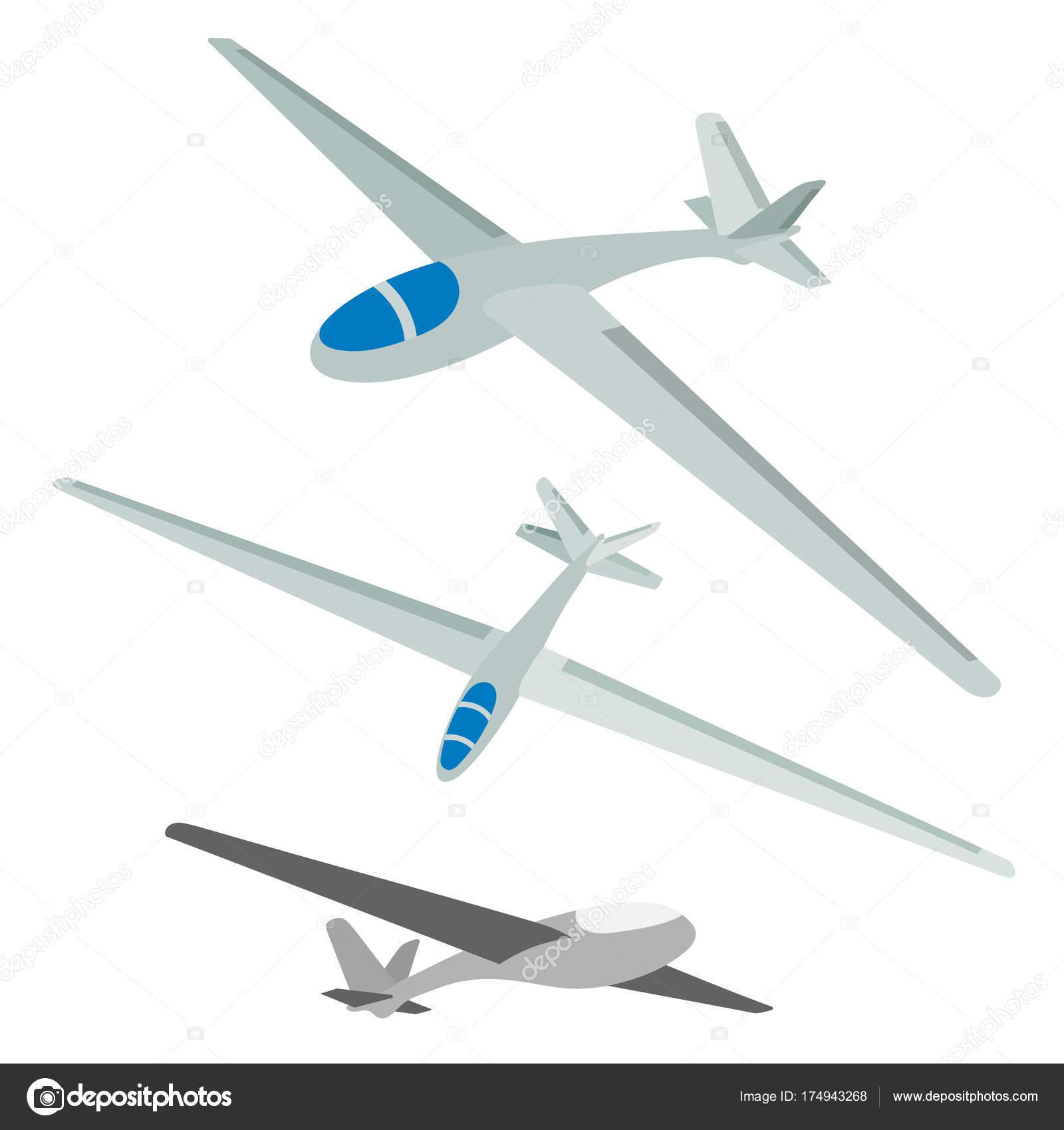 白い背景にグライダーのベクター イラストです航空機のセット